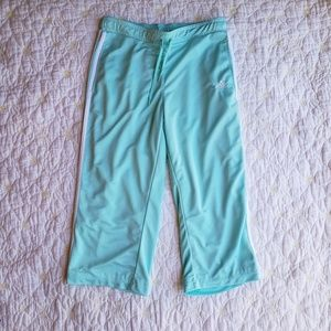 Adidas Aqua Blue Athletic Capri Pants